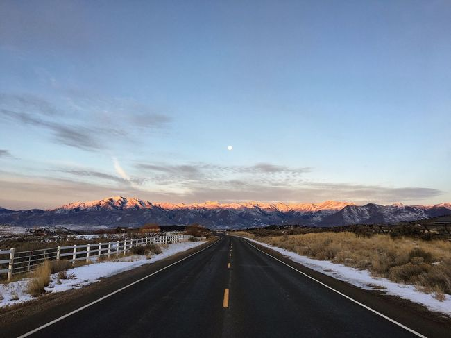 morning ride in. pulled over and got out of the jeep for this one. just outside heber, about 15° and beautiful. Wasatch County Wasatch Mountains Country Roads Road The Way Forward Road Marking Transportation Snow Nature Mountain