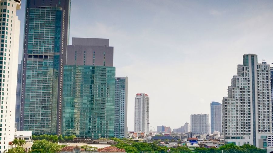 City view bangkok Building Exterior Architecture Built Structure Building City Office Building Exterior Sky Residential District Modern Skyscraper Office Cityscape No People Nature Urban Skyline Landscape Tall - High Tower Day Development