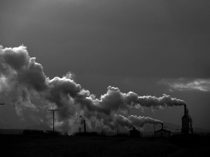 Blackandwhite Iceland Industrial Industry Nature No People Outdoors Pollution Pollution In My World Sky Smog Smoke Steam