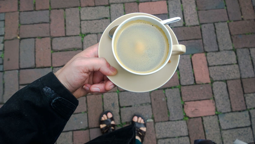 Beverage Cafexperiment Coffee Coffee Coffee - Drink Coffee Cup Cup Drink Food And Drink Freshness Holding Hot Drink Low Section Men Non-alcoholic Beverage Person Personal Perspective Refreshment Walkway
