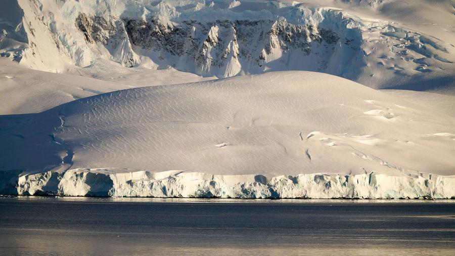 Scenic view of frozen landscape