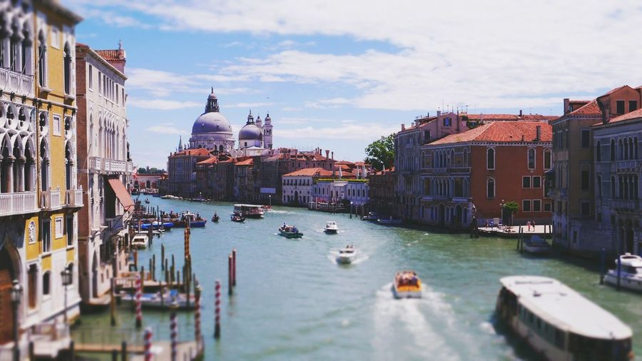 """Across the River"" / Journey 2016 Journey2016 Check This Out Taking PhotosTrip Holiday Lifestyle Nature Venice, Italy Hello World Enjoying Life Relaxing Hanging Out First Eyeem Photo River Boats Ships Taxi Sun Water Water Reflections Reflection Building Town Church Architecture"