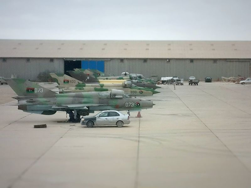 Airforce Lybia Tobruk Mig21 Aircraft Bombers War