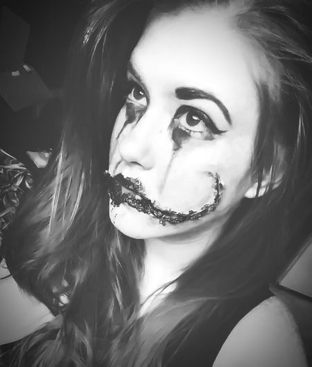 First Eyeem Photo Blackandwhite Makeup Horror Portrait Haunt Faces Of EyeEm