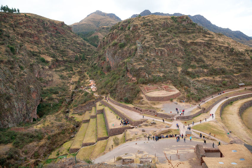 Pisac Perú Terrazas Ruinas Agriculture Mountain Scenics - Nature Architecture Travel Nature Environment Beauty In Nature Day Built Structure Travel Destinations Landscape Mountain Range Sky Tourism Tranquil Scene High Angle View Tranquility History The Past Outdoors Ancient Civilization