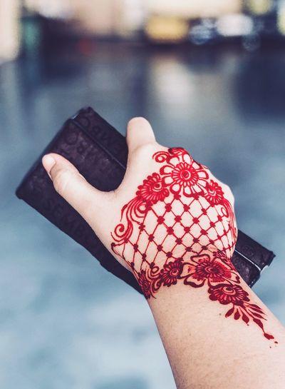 Henna tattoo Human Body Part Human Hand Day Real People Women Adult Henna Tattoo Henna Art Hennadesign Eyeemphotography