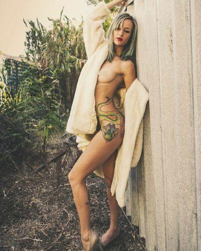Coat check Beauty nowardrobeneeded Nobrarevolution tattooedgirl INKEDGIRL listdmagazine Sensual_woman