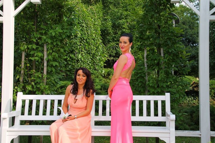 Two People Smiling Portrait Beauty People Happiness Young Adult Adult Tree Outdoors Green Color Young Women Nature Beauty In Nature Adults Only Bride Wedding Dress Day Model Models Modeling Posing For The Camera Women Around The World Timisoara