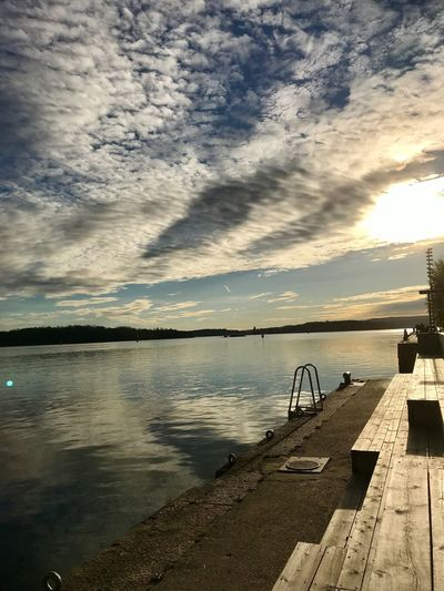 Aker Brygge Calmness Water Sky Cloud - Sky Tranquility Beauty In Nature Sunlight Outdoors No People Day