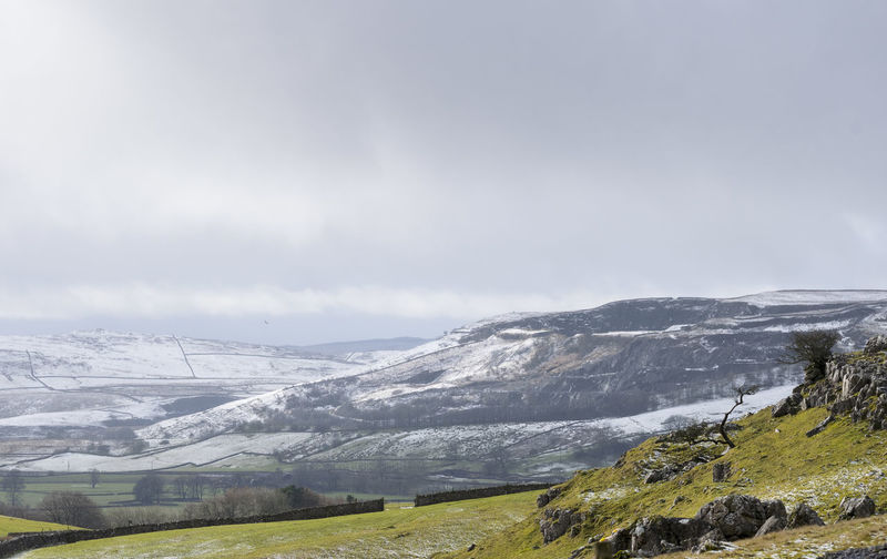 Beauty In Nature Cold Temperature Landscape Mountain Nature Outdoors Scenics Sky Snow Snowcapped Mountain Tranquil Scene Tranquility Winter Yorkshire Dales