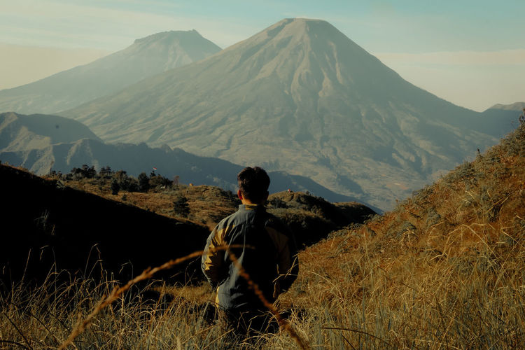 Landscape prau mountain / gunung prau dieng, wonosobo, central java, indonesia