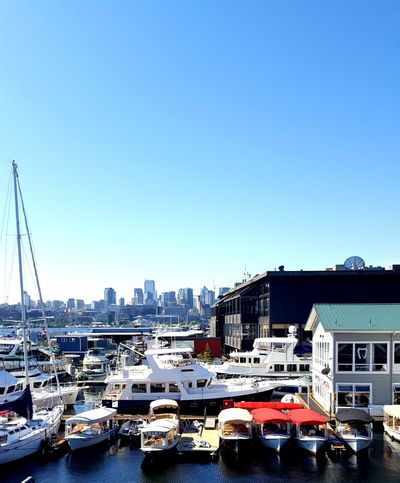 Nautical Vessel Building Exterior Mode Of Transport City Travel Destinations Cityscape Harbor Clear Sky Water Urban Skyline Yacht