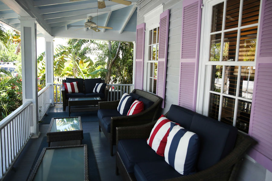 Terrace in Key West, Florida Beautiful Colors Day Florida Hanging Out Home Home Interior Home Showcase Interior Hotel Indoors  Key West Living Room No People Private House Southern Southern California Southern Life Terrace USA Window