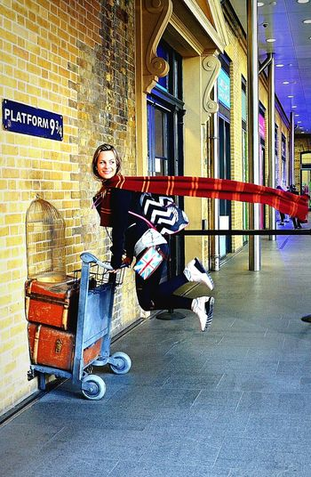 Harrypotter 9 3/4 Streetphotography Magic Station London Railwaystation Amazing Iloveexploring