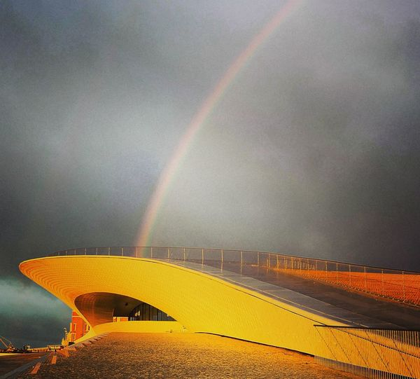 Lisboa Lisbon Maat Tejo Rio Tejo Rainbow Weather Double Rainbow No People Outdoors Scenics Nature Spectrum Beauty In Nature Multi Colored Day