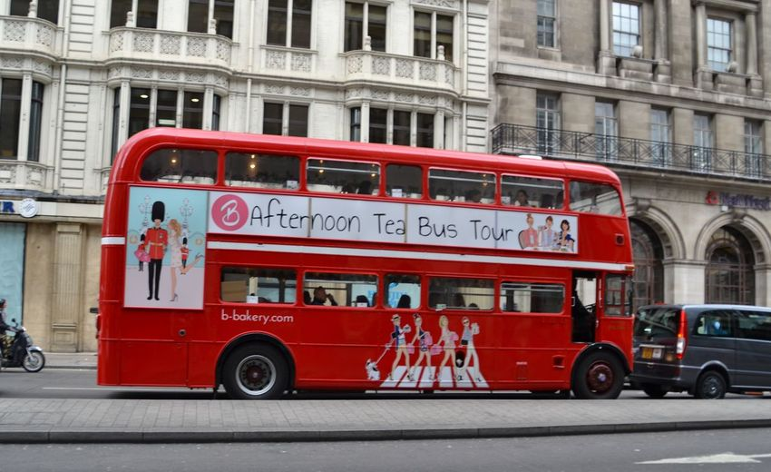 People Double-decker Bus Red Mode Of Transport City