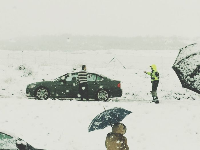 Winter Police Accidents