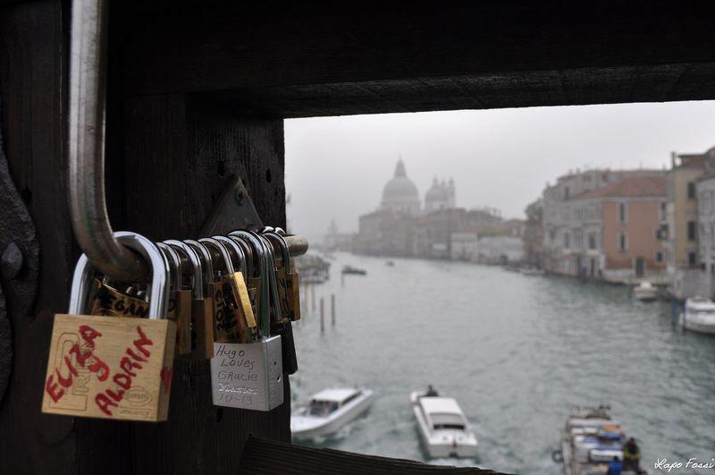 #artistic #boat #canal #foggy #Morning #padlock #Venice #Venezia #Italy #Italia #Europe Bridge - Man Made Structure City Close-up Day Outdoors Sky Travel Destinations Water
