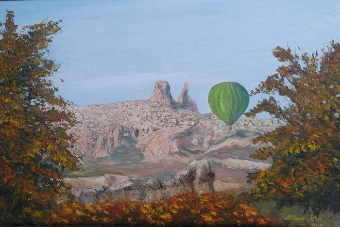 My Work Oil On Canvas Cappadocia/Turkey Landscape Resim Manzara Art Hi! Oil Painting Kapadokya