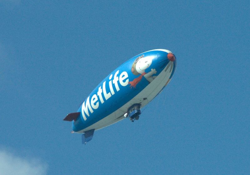 Airship Blimp Clear Sky Low Angle View Mid-air Single Object Zoomtest