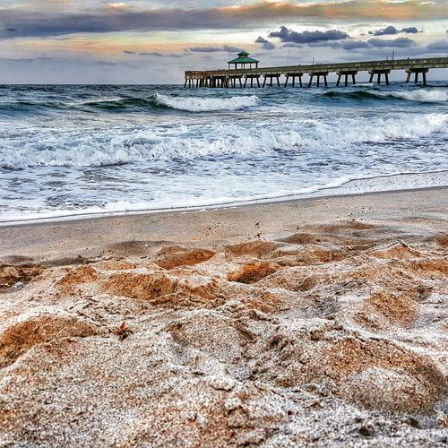 Beach Deerfield, Florida Blue Wave Pier HDR Hdr_Collection