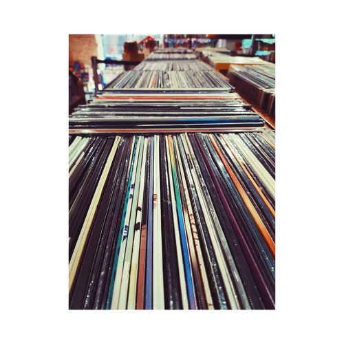 Vinyl Vinyl Shop Music Store Day Music Samsung Note 8 Sky Architecture Built Structure