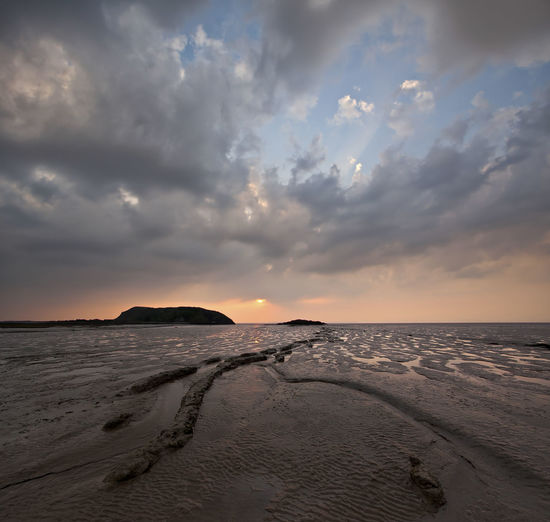 Sunset and Mud Brean Down Weston-super-mare Beach Beauty In Nature Cloud - Sky Horizon Horizon Over Water Idyllic Land Low Tide Mud Nature No People Non-urban Scene Outdoors Sand Scenics - Nature Sea Sky Sunset Tranquil Scene Tranquility Uphill Water