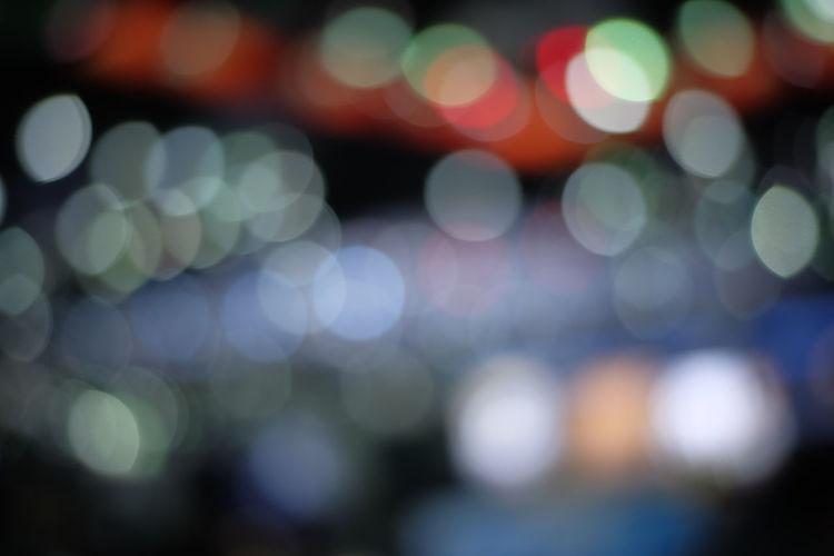 Defocused image of lights