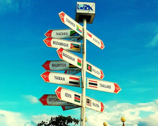 No People Outdoors Countries Of The World Direction Sign INDONESIA Iora