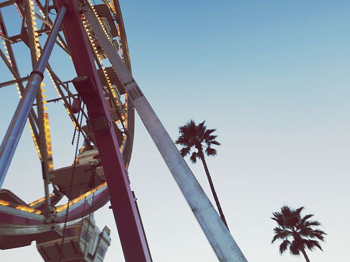 Ferris Wheel Carnival Theme Park Summer Summertime California Palm Trees Vacation Family Time Sky Looking Up GoodTimes