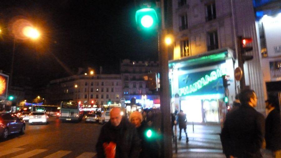 """Nuit d'hiver"" Cities At Night Paris Paris, France  Street City night Street Scene Lights Tourism"