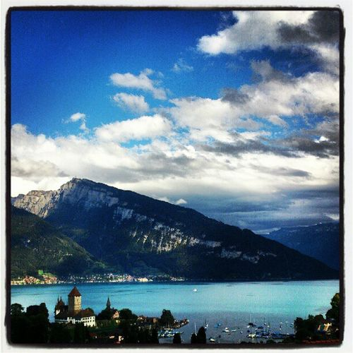 Spiez Thunersee See Lake aussicht view