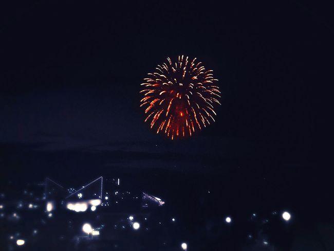 Night Firework Display Celebration Sky Exploding City No People Digital Manipulation
