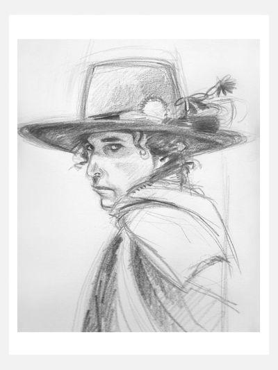 Bob Dylan Drawing Art Pencil