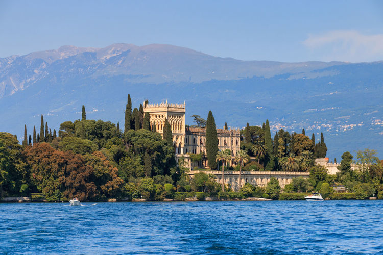 Villa Borghese at Isola del Garda Isola Del Garda Lake Garda Architecture Beauty In Nature Borghese Building Building Exterior Built Structure City Day History Italy Mountain Nature No People Outdoors Plant Scenics - Nature Sky Travel Travel Destinations Tree Villa Water Waterfront