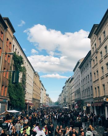 Mayday  Crowd Building Exterior Architecture Large Group Of People Group Of People City Built Structure #FREIHEITBERLIN