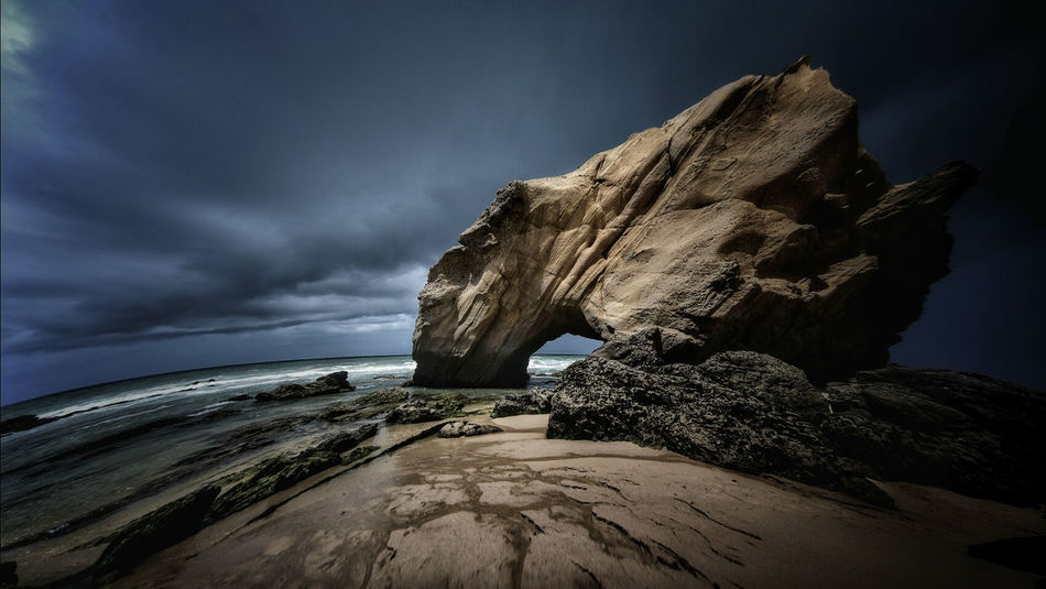 Nature Sea Sky Beach Night No People Outdoors Beauty In Nature Water Scenics Popular Photos Popular Portugal Portugal_lovers Nature Beauty In Nature Beachphotography Beach Photography Rock Rock Formation Rock - Object Sea And Sky Storm Guincho, Portugal Penedo Do Guincho