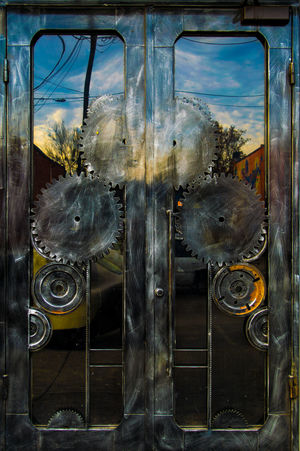 Gear Door Deep Ellum Dallas Door Gears Colorful Design Art BIG
