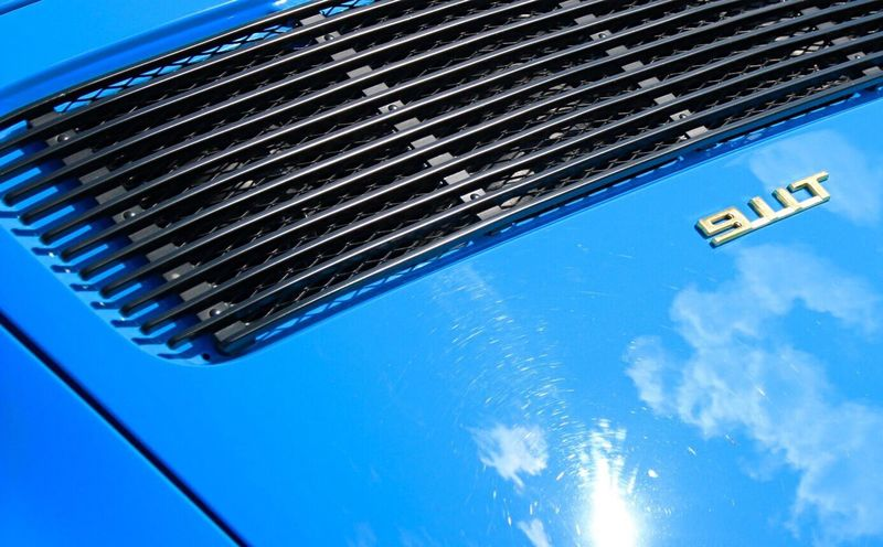 Color Palette Blue Porsche911 Soaking Up The Sun Reflections Clouds And Sky