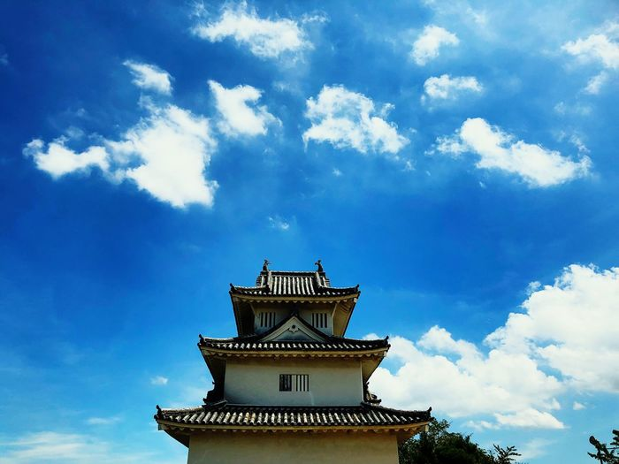 Castle Cloud - Sky Architecture Built Structure Sky Building Exterior Building Low Angle View High Section Spire  History The Past Outdoors Day No People