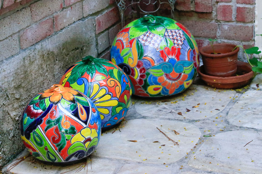 Tadaa Community Malephotographerofthemonth Texas Photographer Halloween_Collection Autumn Multi Colored Art And Craft Close-up Street Art Mosaic ArtWork Floral Pattern Tile