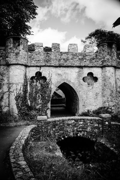 Architecture Arch Built Structure History Day Old Ruin No People Outdoors Building Exterior Castle Tree Water Sky Blackandwhite Black And White Photography Monochrome Photography EyeEm Gallery Malephotographerofthemonth Tollymore Forest Park Northern Ireland Monochrome Weathered EyeEmBestPics EyeEm Best Shots Eyemphotography