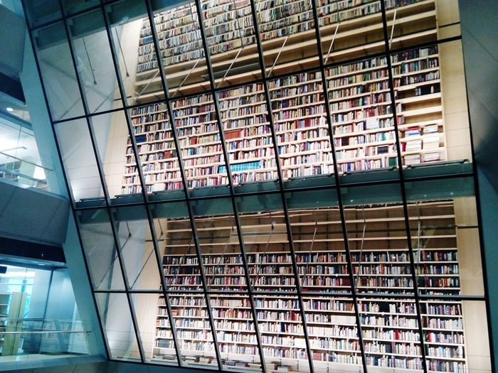 Wall of books, donated by readers Building Interior Books Wall Of Books Library Modern Interior Indoors  Baltic States Baltic Countries Bookshelf City Window Architecture Built Structure Shelves Literature Knowledge Archives