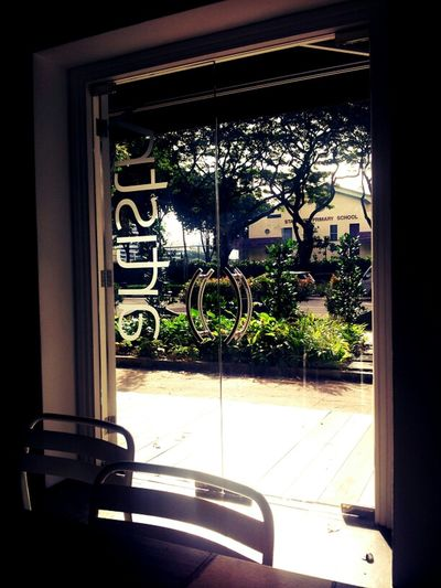 One hot day. Random Light Cafe