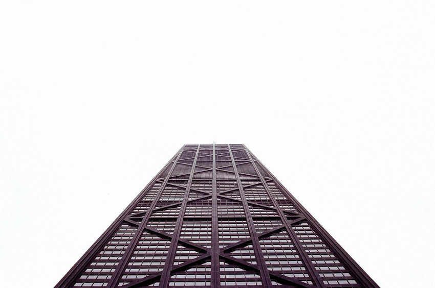 A Runway for the Eyes Architecture Architecture Break The Mold Building Building Exterior Buildings & Sky Built Structure Chicago Chicago Architecture Chicago Skyline Clear Sky Illinois Low Angle View No People Urban Urban Geometry White Background The Architect - 2017 EyeEm Awards EyeEmNewHere Go Higher