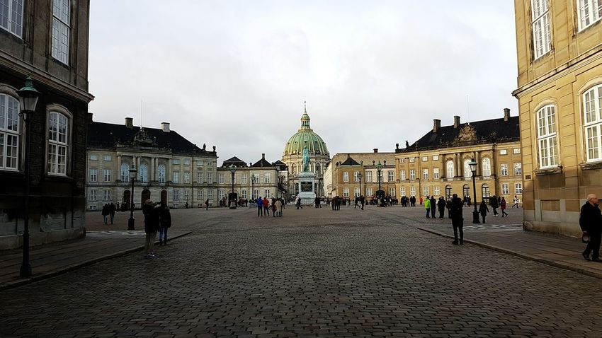 Amalienborg in Copenhagen, home of the royal family - and The Marble Church 🏤🏛 The Marble Church City Urban Queen Copenhagen Cultures History Architecture National Landmark Amalienborg