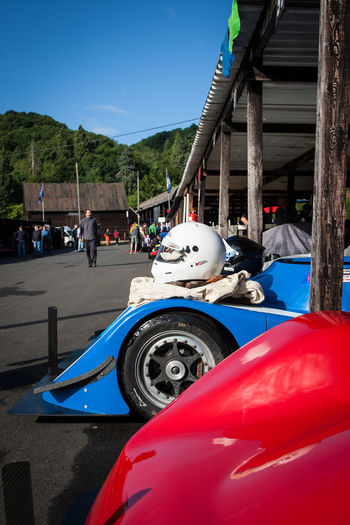 Shelsley Walsh Car Culture Day Full Length Hill Climb Land Vehicle Lifestyles Men Mode Of Transport Occupation Old-fashioned Real People Shelsley Walsh Side View Stationary Transportation Wheel