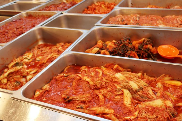 High angle view of food in container