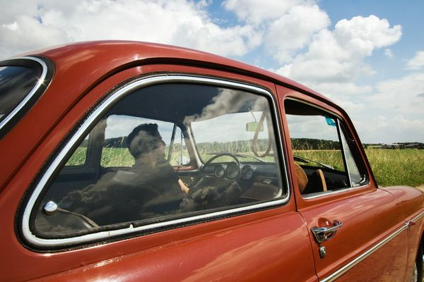 The Drive Sky Car Cloud - Sky Reflection Thoughtful Mood Oldtimer Oldschool VW VW Manandmachine Manandma