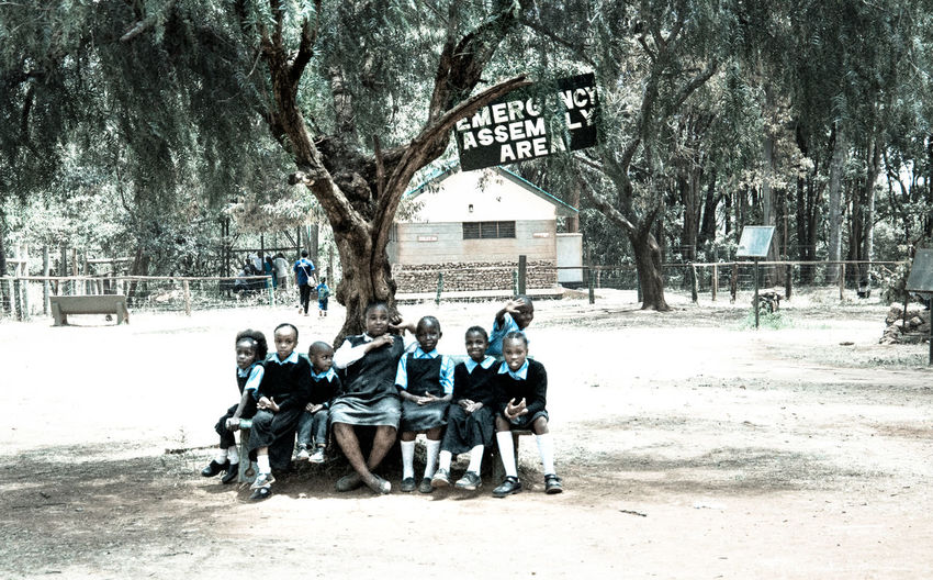 African Children African School Children Kids Outdoors School Children School Trip Shade Of Tree Tree Tree